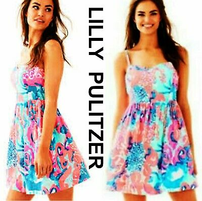 2377a25a645f $179 NEW NWOT LILLY PULITZER Coral Reef I'm So Jelly Christine Dress Size 2