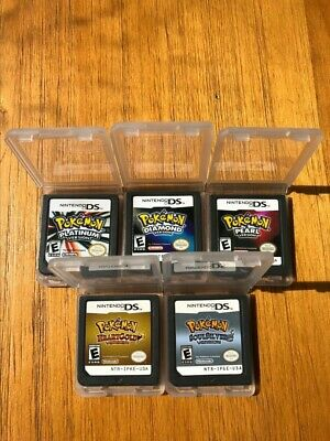 Pokemon Platinum Diamond Pearl SoulSilver HeartGold Game Cards for Nintendo 3DS