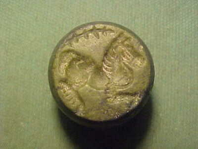 Superb Sasanian dome seal of black stone (horse) circa 224-642 AD.