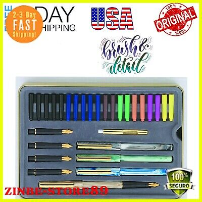 HOT Calligraphy Pen Set Starter Kit Letters Ink Cartridge Practice Pad-Included