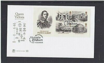 GB 2019 Queen Victoria Legacy Prince Albert MS Stuart FDC Windsor special pmk