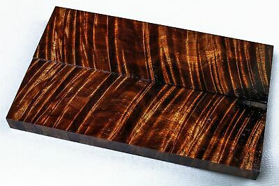 Stunning Old Growth Curly Koa Exotic Wood Knife Scales, Stabilized  SCL8182