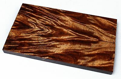 Stunning Figure Old Growth Curly Koa Exotic Knife Scales, Stabilized SCL8212