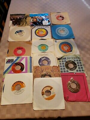 Lot Of 16 45RPM 50s 60s Oldies Pop Soul Jukebox Wholesale Random Vinyl Record.