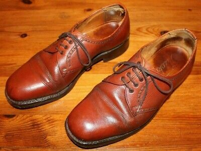 Tricker's vintage Brown brogues - Size UK 8 - Leather Sole, re-heeled