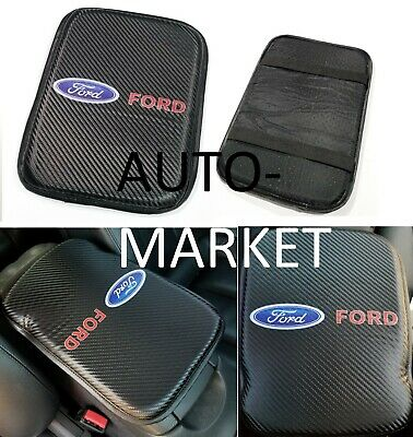 For JDM Ford Racing Carbon Car Center Console Armrest Cushion Mat Pad Cover X1