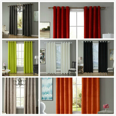 Made Eyelet Curtains Thermal  Blackout Curtains Ready  - Dimout Energy Saving