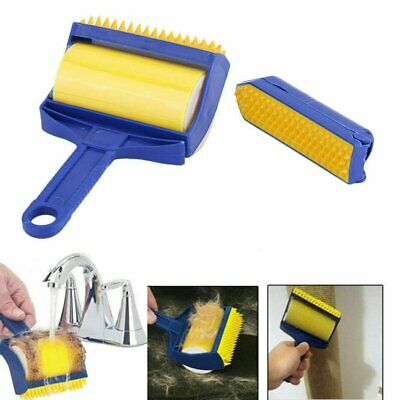 Reusable Sticky Buddy Picker Cleaner Lint Roller Pet Dog Hair Remover Brush