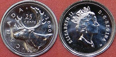 Proof Like 2000W Canada 25 Cents From Mint's Set