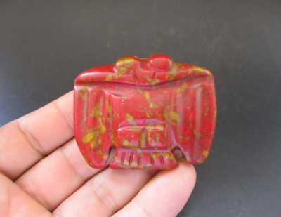 Old China,Hongshan Culture,Red Turquoise,Jade,eagle,amulet,pendant Y6919