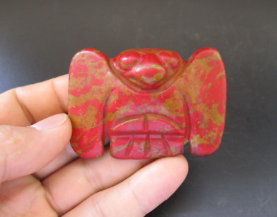 Old China,Hongshan Culture,Red Turquoise,Jade,eagle,amulet,pendant Y6922