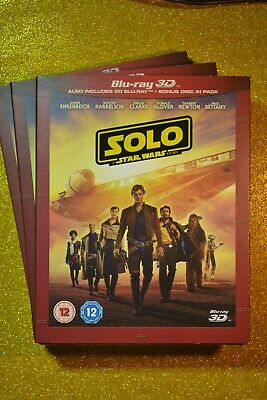 Brand New & Sealed with slip cover STAR WARS 3D SOLO: A Star Wars Story Blu-Ray
