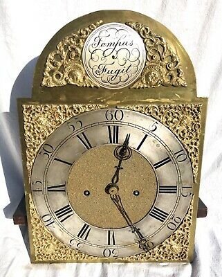 Antique LONGCASE GRANDFATHER CLOCK Brass Dial & 8 Day Movement