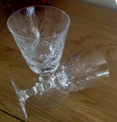 Edinburgh Crystal ~ Pair Star of Edinburgh  Wine Glasses