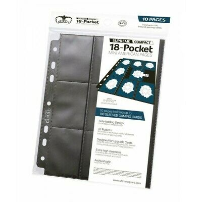 Ultimate Guard 18-pocket Compact Pages Mini American Black (10) (1141576)