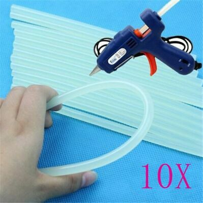 10 Pcs Glue Gun Sticks 7mm Craft Transparent High Viscosity Heat Pistol Tools