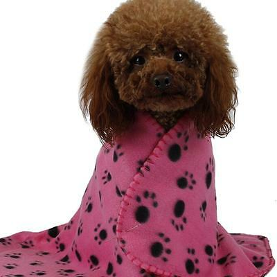 Pet Sleeping Blanket Winter Print Dog Cat Puppy Fleece Soft Mat Cushion Pad AL
