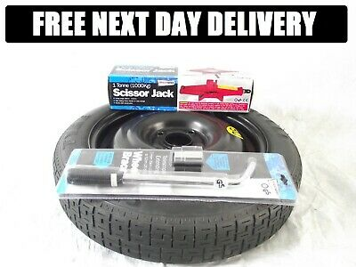 "FORD FIESTA 15"" space saver spare wheel &  BRAND NEW jacking kit"