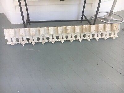 GORGEOUS c1870 gothic Victorian porch pediment crackled white paint 52 x 7.75x3""