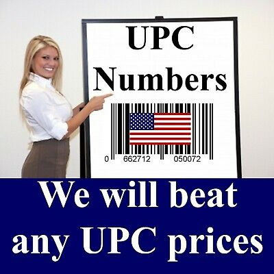 500, 1000, 2500, 10,000 Amazon UPC Barcode Codes Numbers -Don't buy fake numbers