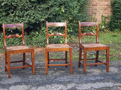 3 Antique English Regional Country Chairs