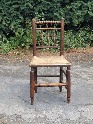 ANTIQUE RUSH SEATED COUNTRY  CHAIR ; South Lincolnshire