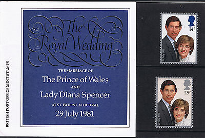 The Royal Wedding 1981 - Charles & Diana -  Mint Stamps Presentation  Pack #127a