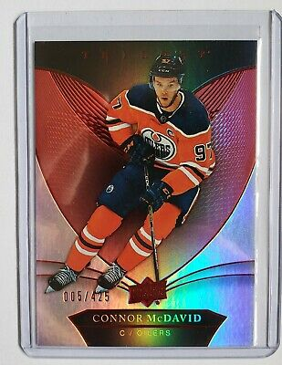 2018-19 UD Upper Deck Trilogy CONNOR McDAVID Red Parallel # 005/425. Low Print!