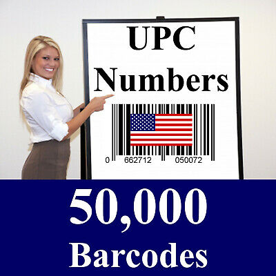 50,000 Amazon 50000 UPC Barcode Codes Numbers - Don't buy fake numbers