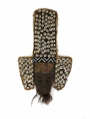 Lele Mask Beads Cowrie Shells African Art SALE WAS $210.00