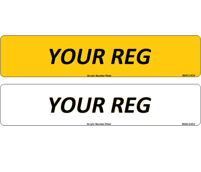 Pair Premium Quality Registration Number Plates Car Van Trailer MOT Compliant