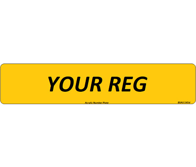 Rear Premium Quality Registration Number Plates Car Van Trailer MOT Compliant