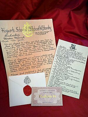 """Late"" Hogwarts Acceptance Letter - Handwritten & Personalized - Harry Potter"