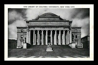 Dr Jim Stamps Us Library Of Columbia University New York City View Postcard