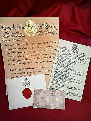 """Early"" Hogwarts Acceptance Letter - Handwritten & Personalized - Harry Potter"