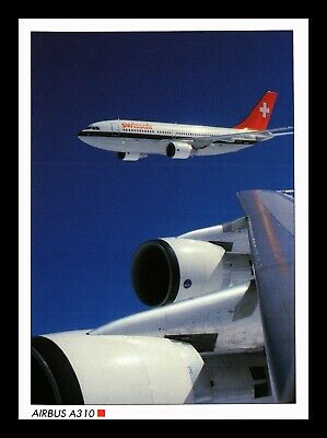 Dr Jim Stamps Us Swissair Airbus Airplane Transportation Continental Postcard