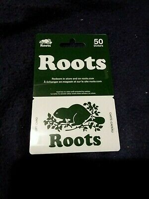 Roots gift card $50.00 (Fifty dollars) value