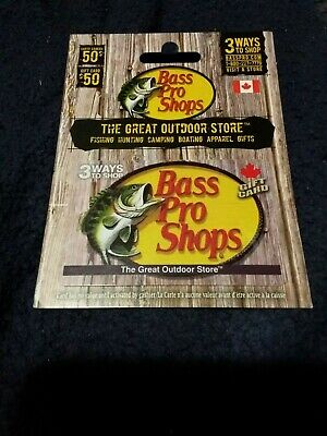 Bass Pro Shops gift card $50.00 (Fifty dollars) value