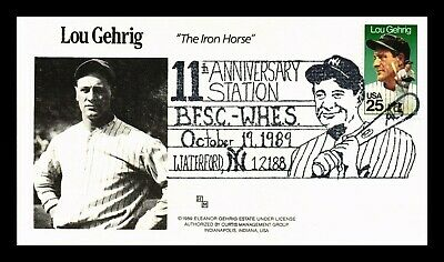 Dr Jim Stamps Us Lou Gehrig Iron Horse Baseball Waterford New York Cover 1989