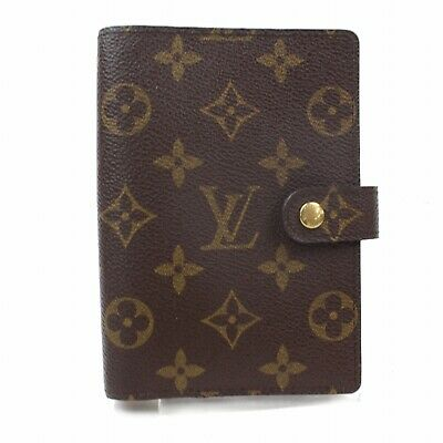 Authentic Louis Vuitton Diary Cover Agenda PM Browns Monogram 349484