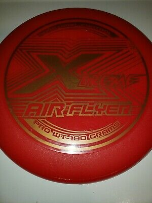 """Xtreme Air Flyer Vintage Frisbee Flying Disc Pro Wt-180 Grams """"Sure Grip """" Rare"""
