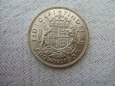 1937 British Silver Crown Coin ....George V1..Coronation.............341