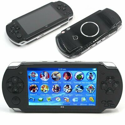 Portable X6 PSP 8G 64Bit Handheld Game Console Retro 10000 Games Player MP4 UK