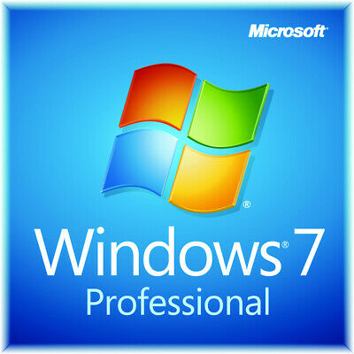 WINDOWS 7 Professional 32 oder 64 BIT ISO DVD + Keyaufkleber