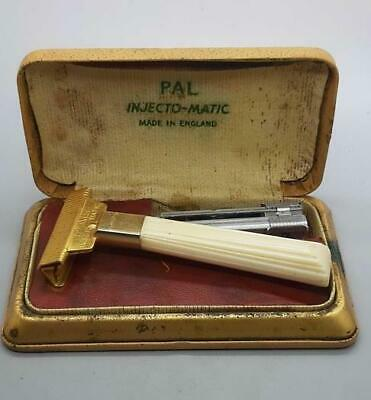 Vintage 1950's PAL Injecto-Matic Safety Razor Made in England in Original Box