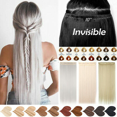 Hair Extensions 1pcs Real Thick Half Head Clip In Hair Peice Feels Like Human c6