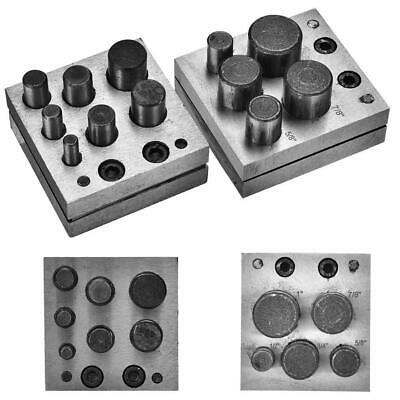 Disc Cutter Punch Tools Set Metal Circle Punching Jewellery DIY Tool 5 / 7 Holes