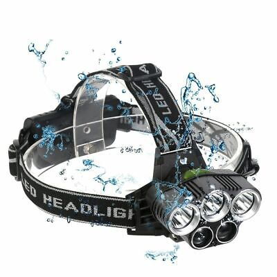 2019 - 90000Lm 5X Xm-L T6 Led Headlamp Head Light Head Torch Flashlight Camping
