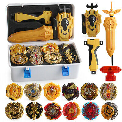 Beyblade Burst w/ LR Launcher Grip +Portable Storage Box Lots 12x Bayblades Set
