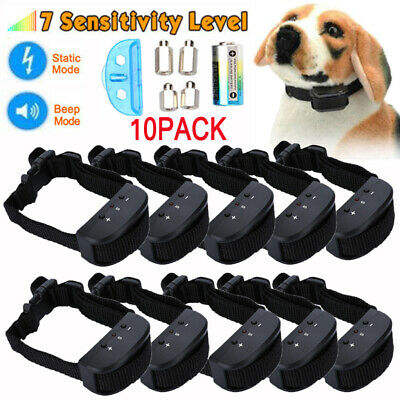 LOT Anti Bark No Barking Training Collar Shock Control For S/M/L Dog w/Battery